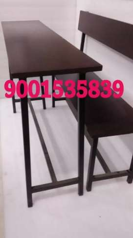 Neww school furniture bench table set at wholesale prices