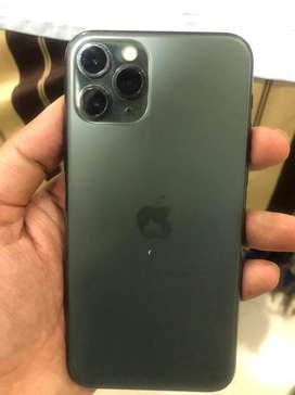Iphone 11 pro 64gb green color with apple leather cover worth 5000