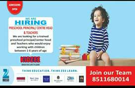 Required Principal/Center Head for Kidzee Prechool In Bopal Ghuma