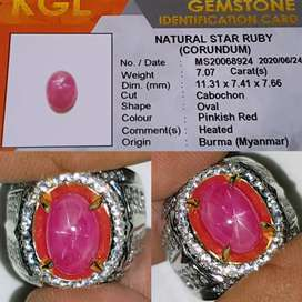 Natural Star Ruby burma - tersedia juga sapphire,spinel,chrysoberyl