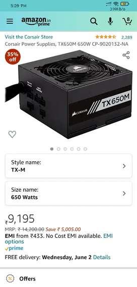Corsair TX 650 M Power Supply