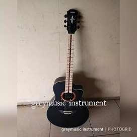 Gitar akustik black greymusic seri 2053
