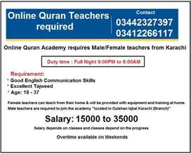 Online Quran Teachers Required