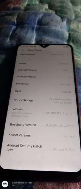 Oppo f 9pro is good condition and tip top mobile one year old