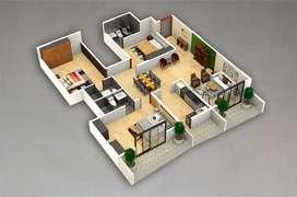 3 bed room flat Ds max sky city Thanisandra main road near sobha city