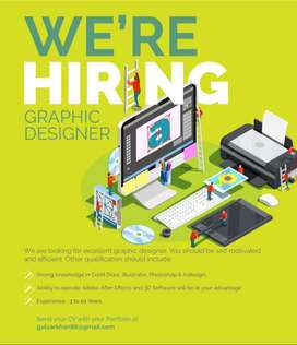 WE ARE LOOKING FOR CREATIVE GRAPHIC DESIGNER