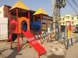 Kids slide and outdoor play unit