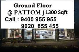 Ground Floor | 1200 Sqft | 100 Rs / Sqft | Pattom