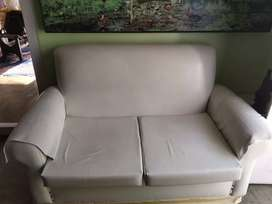 White double sitting sofa for sell