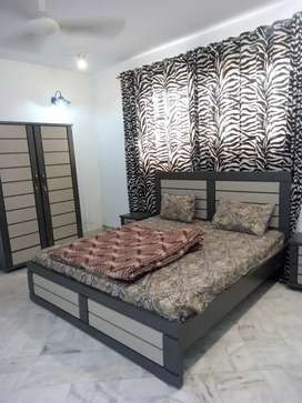 furnished  ground n upper both available for rent short n long time