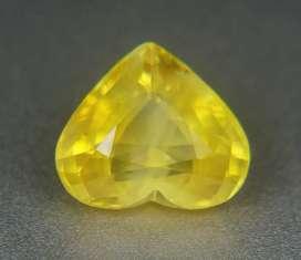 Love. 2.13 ct Yellow sapphire safir heart cut for GD rings