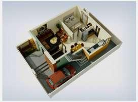 1033 Sq.ft polt Size #1BHK Tenement Sale