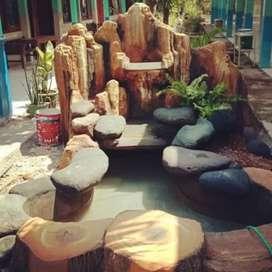 Kolam rellif kolam cadas batu alam jasa pembuatan kolam rellif cadas