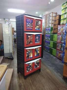 Lemari Plastik Napolly Susun 4 Motif Civil War Murah Jogjakarta (SRL)