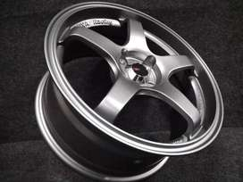 velg racing bisa untuk mobil brio TC3 u238 ring 16x7  promo free ongki