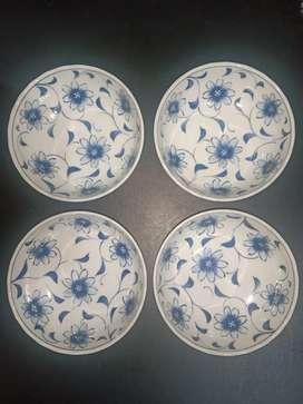 Mangkok Lawas Keramik Biru Putih