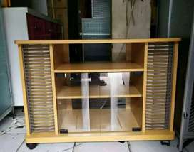 Rak tv kecil panjang 80 cm siap pasang di tempat