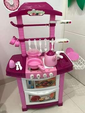 Mainan Anak Perempuan Dapur Kitchen Set Super Cook