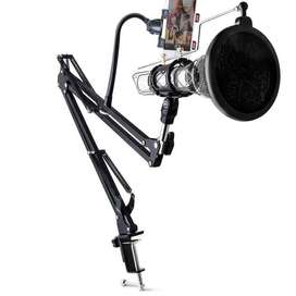 Condenser Microphone & Phone Stand Holder 360 Degree Lazypod