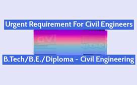 Required Site civil engineer  b tech / diploma //itit