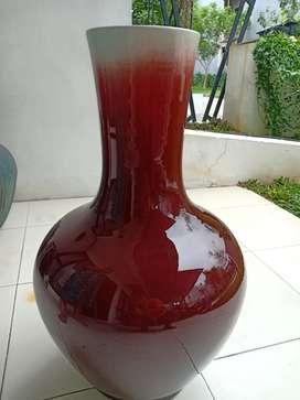 Guci keramik Merah marun Tinggi 70 cm Mulus