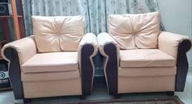 Synthetic leather sofa ( Price negotiable)