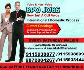 INTERNATIONAL BPO JOBS IN TRICITY CHANDIGARH SAME DAY OFFER FRESHER