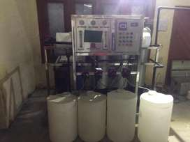 Mineral water plant full setup.