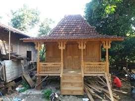 Rumah panggung kayu jati ukuran 4x5m