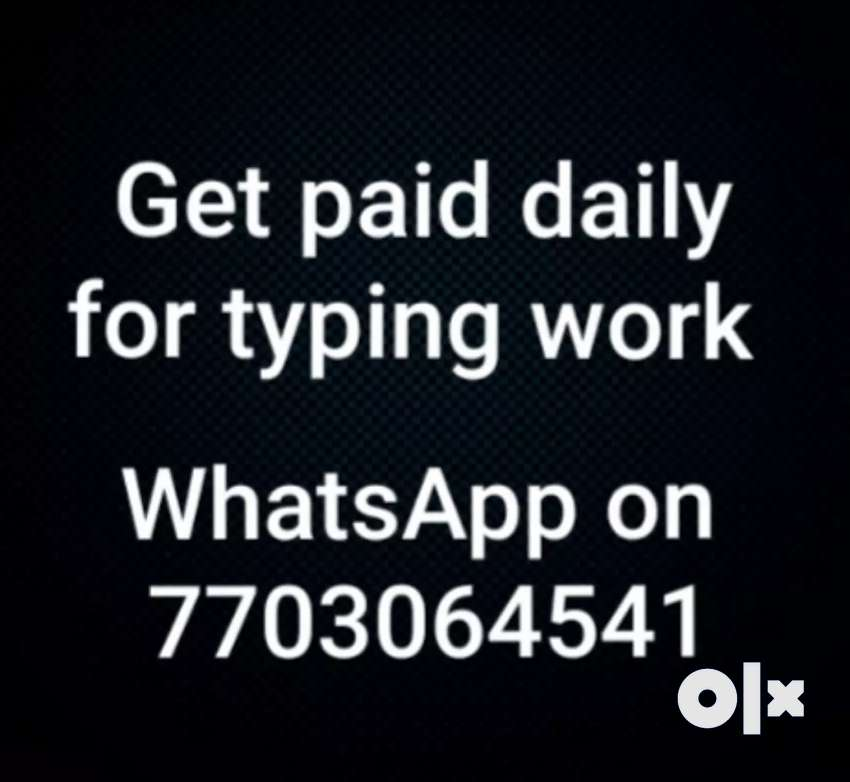 100 % genuine typing works. Weekly based payments available 0