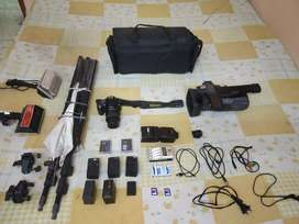 Sony pd 177p professional camcorder with nikon dslr D60 and 18-55 lens