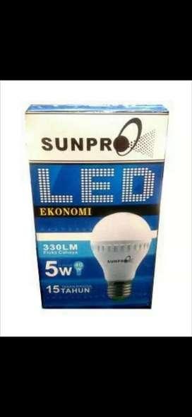 lampu led sunpro ekonomi 5w cool daylight