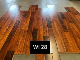 Laminated Wooden floor hdf ac-3 quality.  Pvc skirting pvc reduces