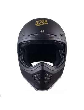 JP Chakil Signature Helm Full Face - Black Doff XL