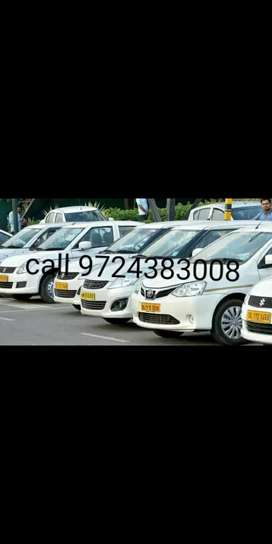 Taxi car on rent