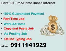 Opened vacancies for part time home based work earn