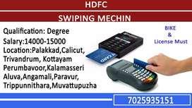 HDFC Swiping machine sales