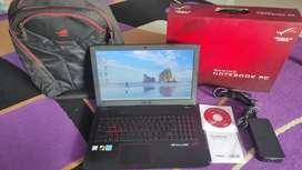 Asus ROG i7 GL552VX FullSet Dos & Tas Ory/Ram 8 GB/SSD 256 GB/HDD 1 TB