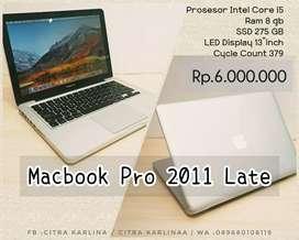Zona Komputer | Macbook Pro 2011 Late i5 ram 8gb cycle count 379 !