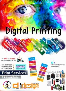 Digital printing , we print and we deliver
