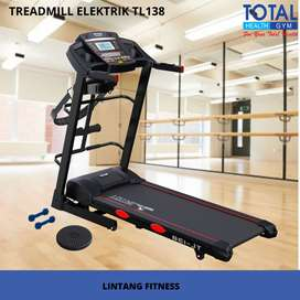 Treadmill elektrik TL138 Merk Total fitnes I Bonus alat pengecil perut