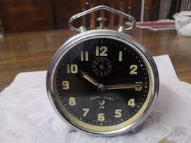Beautiful Vintage favre leuba mechanical alarm table clock working
