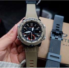 Jam tangan pria sporty (dapat 2 tali)