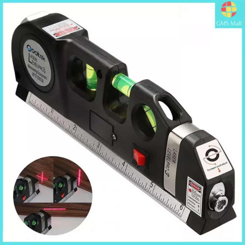 Penggaris Laser Waterpass Meteran Laser MAnual 250Cm