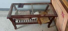 Pure wooden trolley and tea table