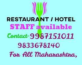 We Provide STAFF,, Restaurant Staff, Hotel STAFF, Fast Food STAFF, etc