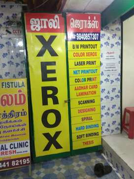 Need male/female for Xerox shop