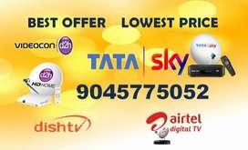 Tata sky, Videocon D2H,Dishtv , Airtel, Sun direct at Lowest Price