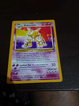 Rare Alakazam pokemon card collectible