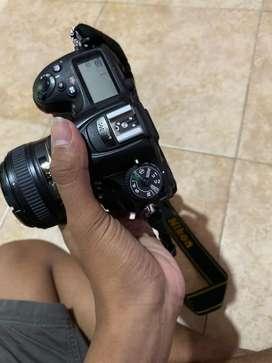 Nikon d7200 140 kit + lensa 50mm afs 1.8